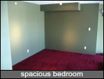 very spacious bedroom