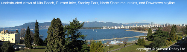 Kits Beach penthouse condo for rent at The Vue #PH- 2386 Cornwall Ave, Vancouver Westside